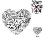 Panic! At The Disco Lyric Quotes Playing Cards 54 (Heart)  Back