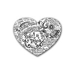 Panic! At The Disco Lyric Quotes Rubber Coaster (Heart)  Front