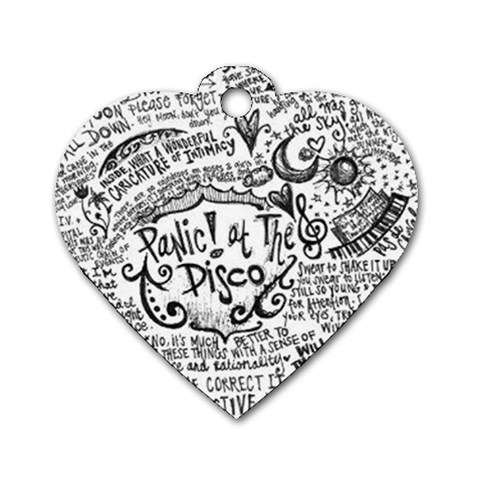 Panic! At The Disco Lyric Quotes Dog Tag Heart (One Side)