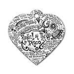 Panic! At The Disco Lyric Quotes Dog Tag Heart (Two Sides) Back