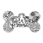 Panic! At The Disco Lyric Quotes Dog Tag Bone (Two Sides) Back