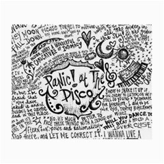 Panic! At The Disco Lyric Quotes Small Glasses Cloth (2 Side)