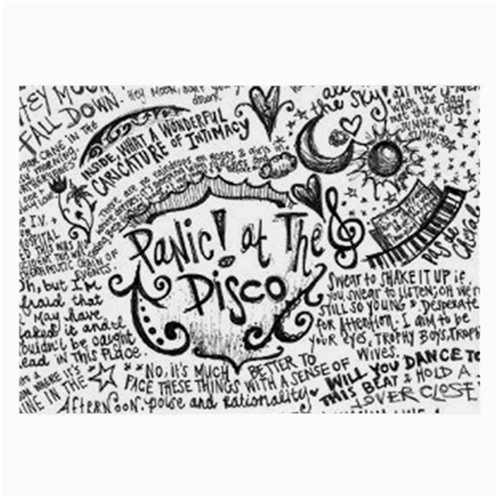 Panic! At The Disco Lyric Quotes Large Glasses Cloth (2-Side)