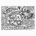 Panic! At The Disco Lyric Quotes Large Glasses Cloth (2-Side) Back