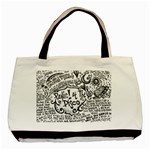 Panic! At The Disco Lyric Quotes Basic Tote Bag (Two Sides) Back