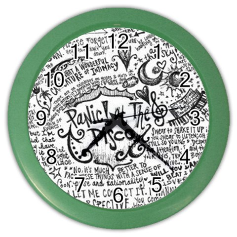 Panic! At The Disco Lyric Quotes Color Wall Clocks