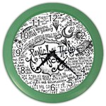 Panic! At The Disco Lyric Quotes Color Wall Clocks Front