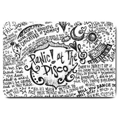 Panic! At The Disco Lyric Quotes Large Doormat