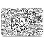 Panic! At The Disco Lyric Quotes Large Doormat  30 x20 Door Mat - 1