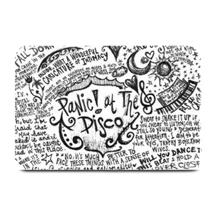 Panic! At The Disco Lyric Quotes Plate Mats