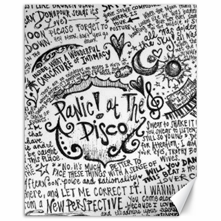 Panic! At The Disco Lyric Quotes Canvas 11  x 14