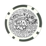 Panic! At The Disco Lyric Quotes Poker Chip Card Guards Back