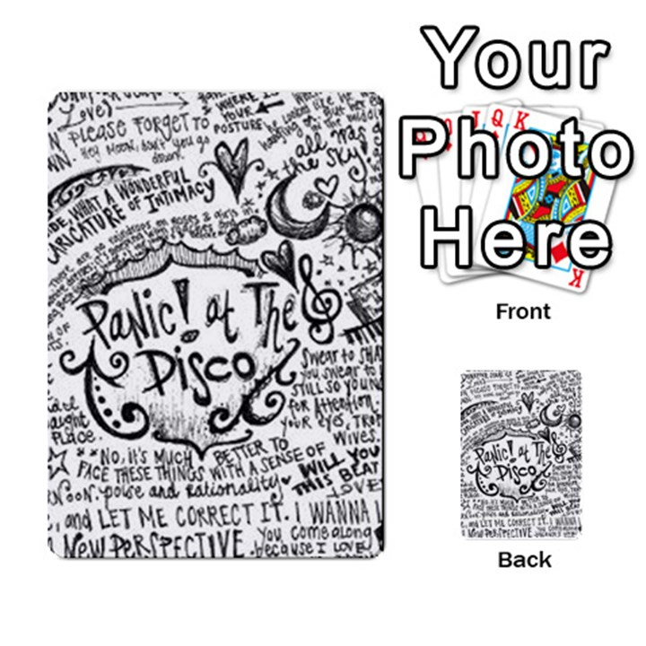 Panic! At The Disco Lyric Quotes Multi-purpose Cards (Rectangle)