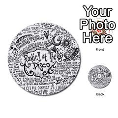Panic! At The Disco Lyric Quotes Multi-purpose Cards (Round)