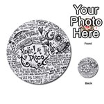 Panic! At The Disco Lyric Quotes Multi-purpose Cards (Round)  Back 40