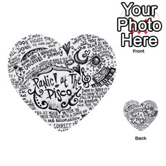 Panic! At The Disco Lyric Quotes Multi Purpose Cards (heart)