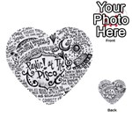 Panic! At The Disco Lyric Quotes Multi-purpose Cards (Heart)  Back 34