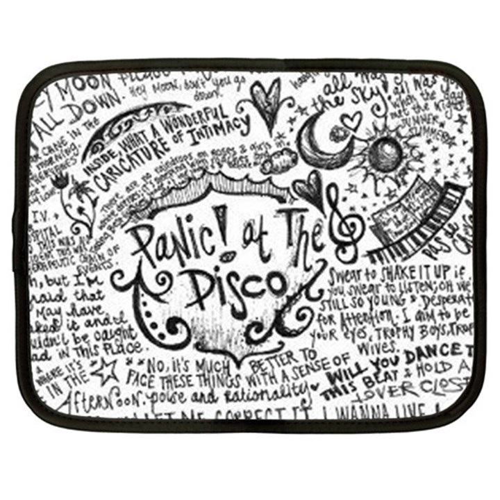 Panic! At The Disco Lyric Quotes Netbook Case (Large)