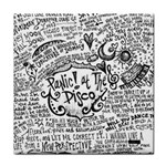 Panic! At The Disco Lyric Quotes Face Towel Front