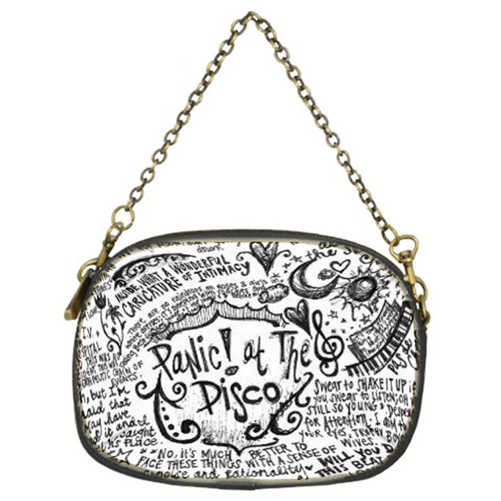 Panic! At The Disco Lyric Quotes Chain Purses (One Side)