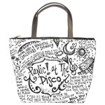 Panic! At The Disco Lyric Quotes Bucket Bags Front