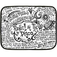 Panic! At The Disco Lyric Quotes Fleece Blanket (mini)