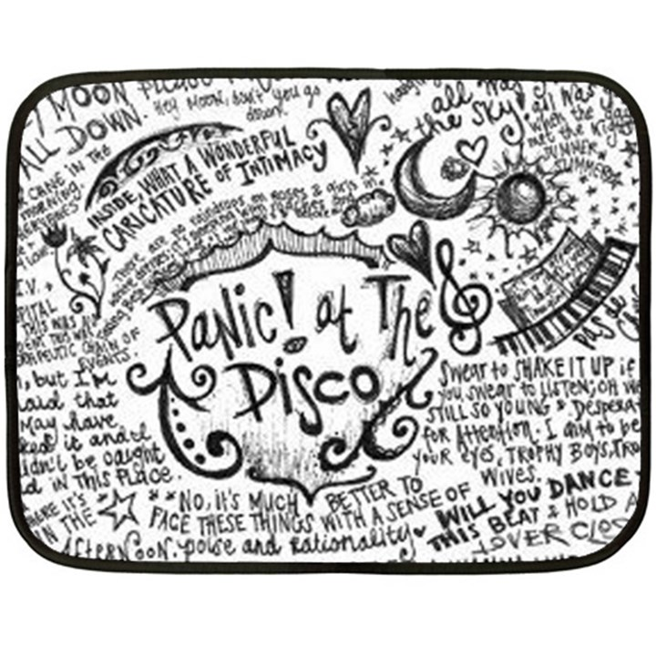 Panic! At The Disco Lyric Quotes Fleece Blanket (Mini)