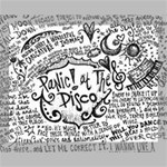 Panic! At The Disco Lyric Quotes Canvas 14  x 11  14  x 11  x 0.875  Stretched Canvas