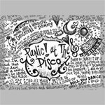 Panic! At The Disco Lyric Quotes Canvas 18  x 12  18  x 12  x 0.875  Stretched Canvas