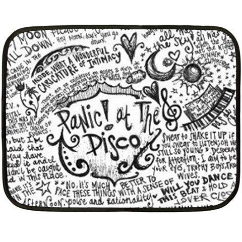 Panic! At The Disco Lyric Quotes Double Sided Fleece Blanket (Mini)