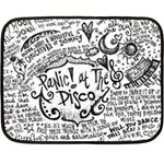 Panic! At The Disco Lyric Quotes Double Sided Fleece Blanket (Mini)  35 x27 Blanket Back