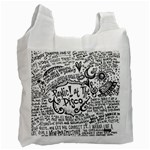 Panic! At The Disco Lyric Quotes Recycle Bag (One Side) Front