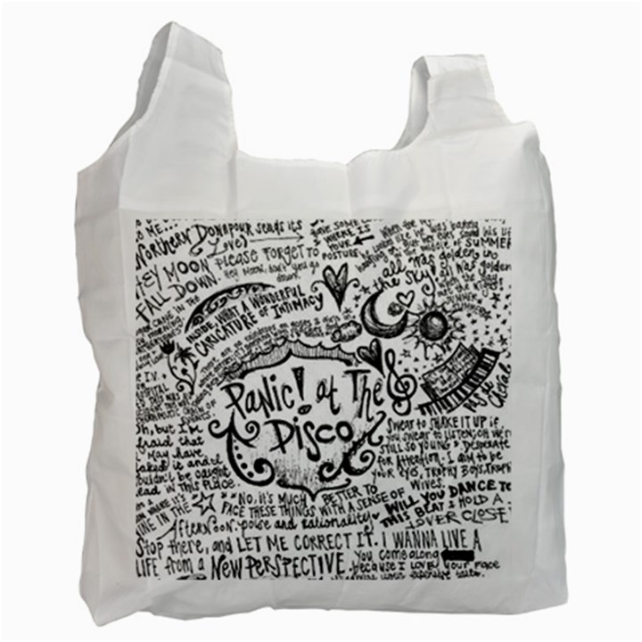Panic! At The Disco Lyric Quotes Recycle Bag (One Side)
