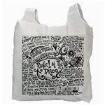 Panic! At The Disco Lyric Quotes Recycle Bag (Two Side)  Back