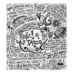 Panic! At The Disco Lyric Quotes Shower Curtain 66  x 72  (Large)  58.75 x64.8 Curtain
