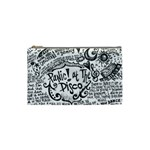 Panic! At The Disco Lyric Quotes Cosmetic Bag (Small)  Front