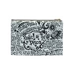 Panic! At The Disco Lyric Quotes Cosmetic Bag (Medium)  Back