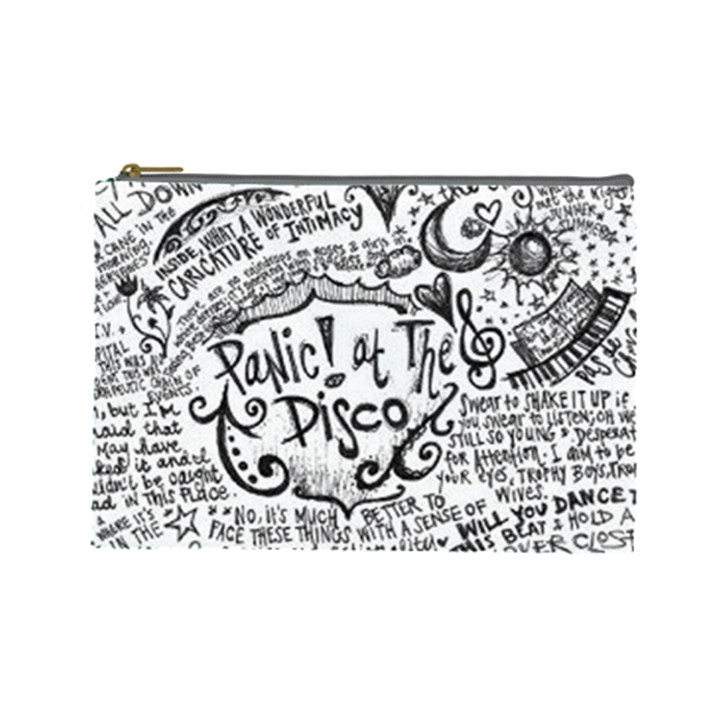 Panic! At The Disco Lyric Quotes Cosmetic Bag (Large)