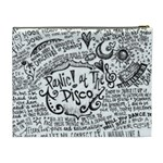 Panic! At The Disco Lyric Quotes Cosmetic Bag (XL) Back