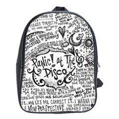 Panic! At The Disco Lyric Quotes School Bags(Large)