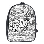 Panic! At The Disco Lyric Quotes School Bags(Large)  Front