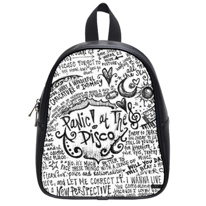 Panic! At The Disco Lyric Quotes School Bags (Small)