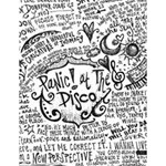 Panic! At The Disco Lyric Quotes Large Memo Pads 4.125 x5.5  Memopad