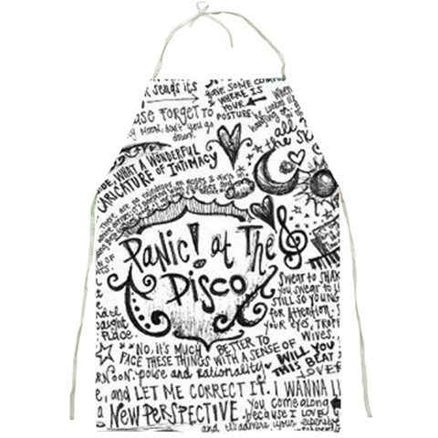 Panic! At The Disco Lyric Quotes Full Print Aprons