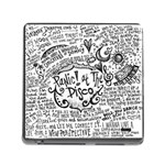 Panic! At The Disco Lyric Quotes Memory Card Reader (Square) Front