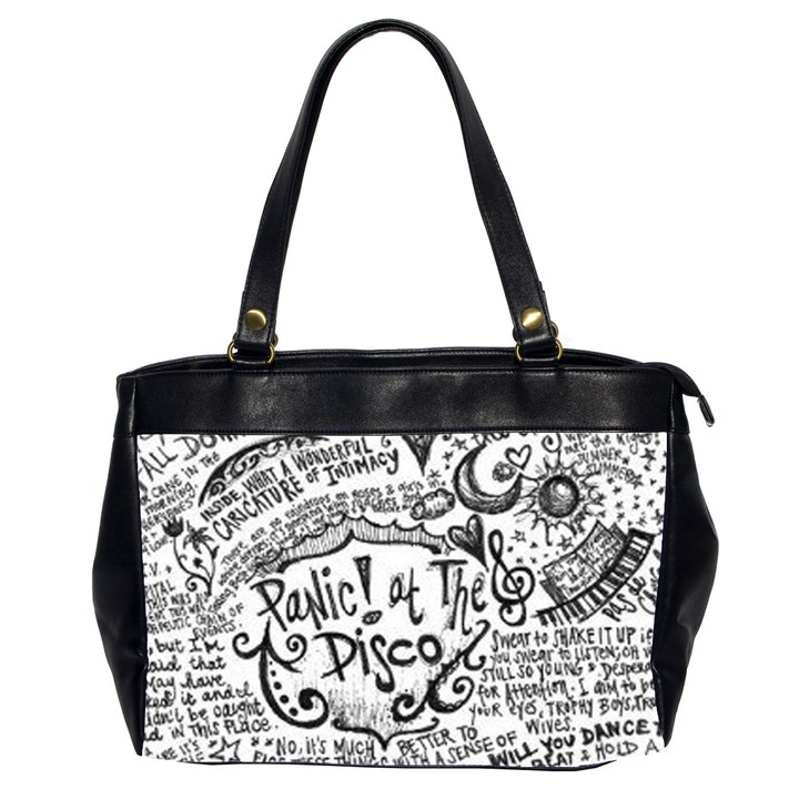Panic! At The Disco Lyric Quotes Office Handbags (2 Sides)