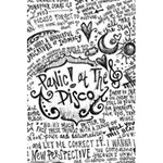 Panic! At The Disco Lyric Quotes 5.5  x 8.5  Notebooks Back Cover