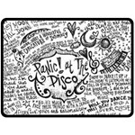 Panic! At The Disco Lyric Quotes Fleece Blanket (Large)  80 x60 Blanket Front