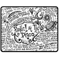 Panic! At The Disco Lyric Quotes Fleece Blanket (Medium)