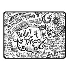 Panic! At The Disco Lyric Quotes Fleece Blanket (Small)